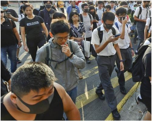 【修例風波】響應「和你返工3.0」 示威者港島兵分兩路遊行