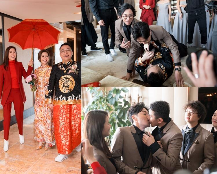 農夫成員C君今日同拍拖5年的港台DJ女友黃天頤結婚了!