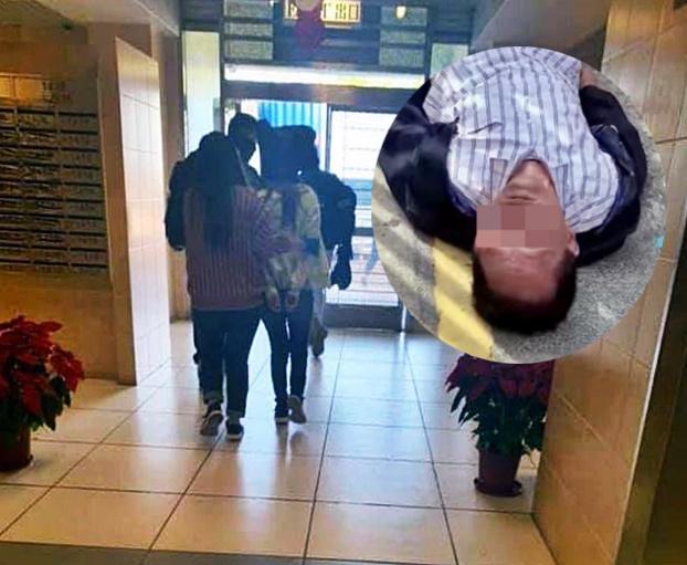 有年輕人被警員帶走,疑與掟磚案有關。圖片來源:林子琼facebook