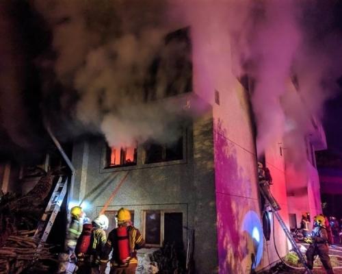 台南宗教人士聚居樓火警7死2傷 21歲男自首縱火