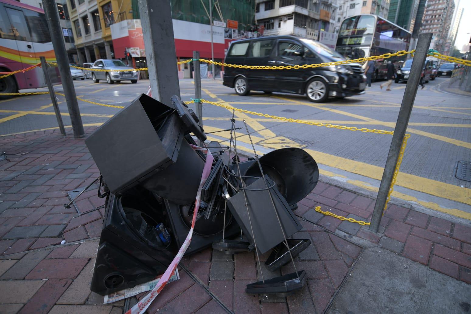 市面上有電箱仍然損毀。
