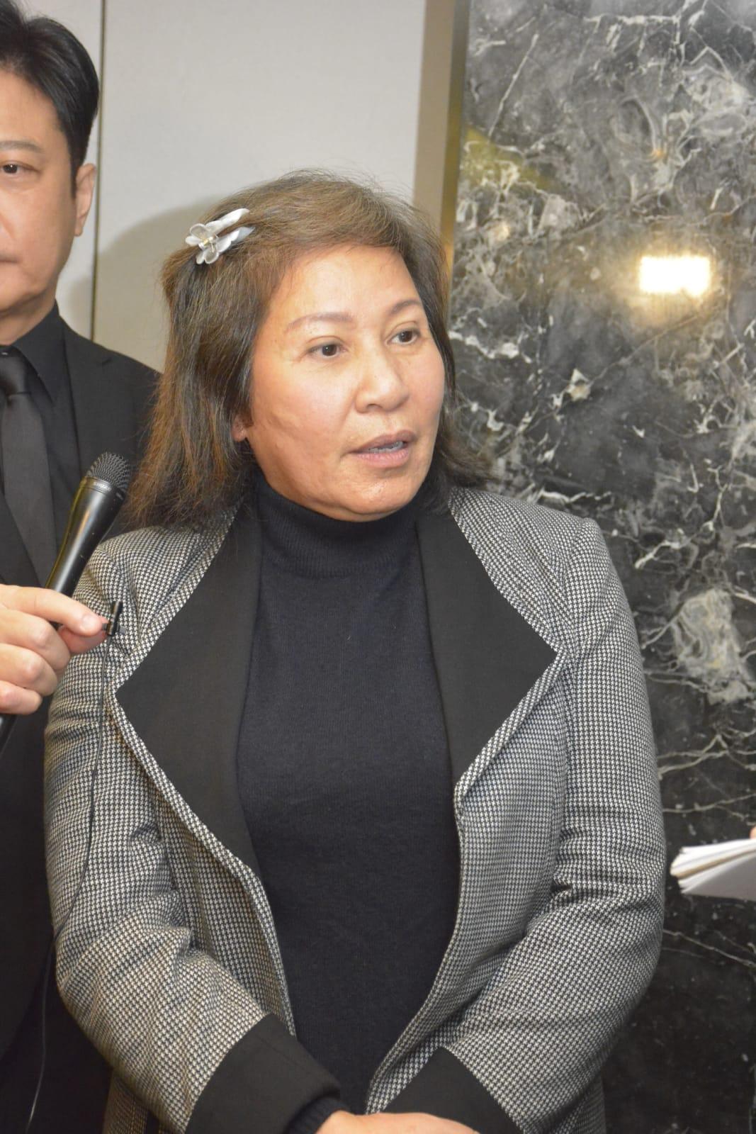 陳星的遺孀陳太表示很滿意今次的追思會。