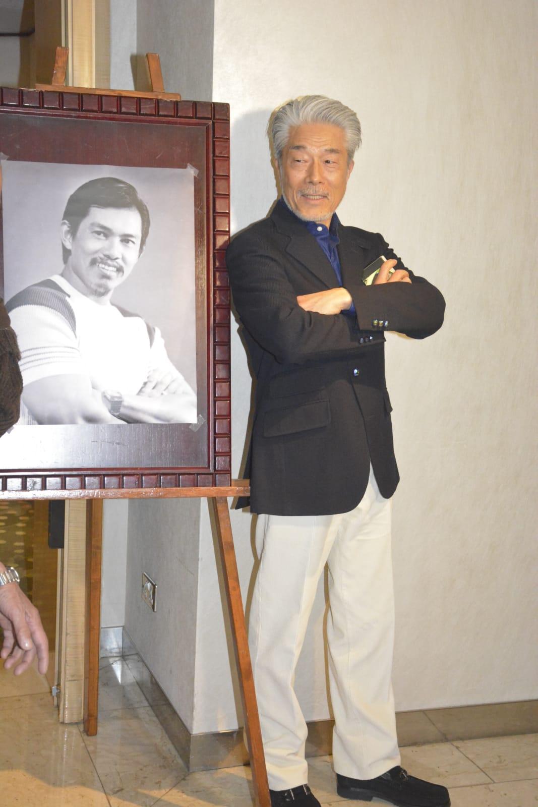 倉田保昭專誠由日本來港出席追思會。