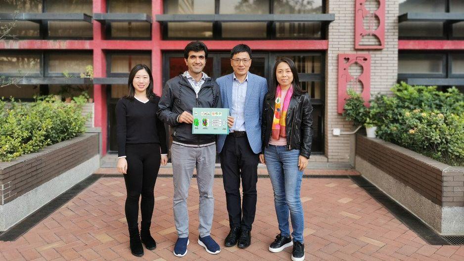 研究團隊(左起)港大化學系王海波、Mohamad Koohi-Moghadam、孫紅哲和李洪艷。