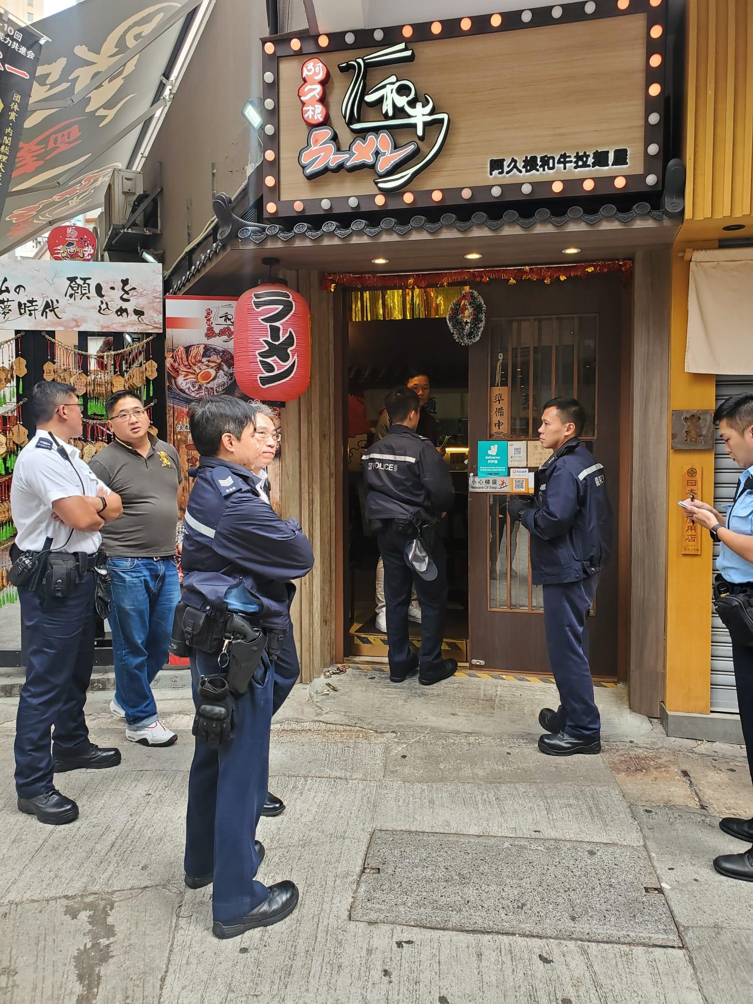 旺角拉麵店遭剪鎖爆竊 賊人得手後踏單車逃走