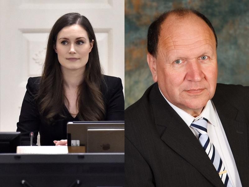 内政部长赫尔默公开嘲讽芬兰新任女总理马林是「售货员」。/网图