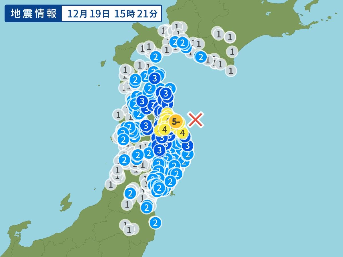 日本青森县发生5.5级地震。网上图片