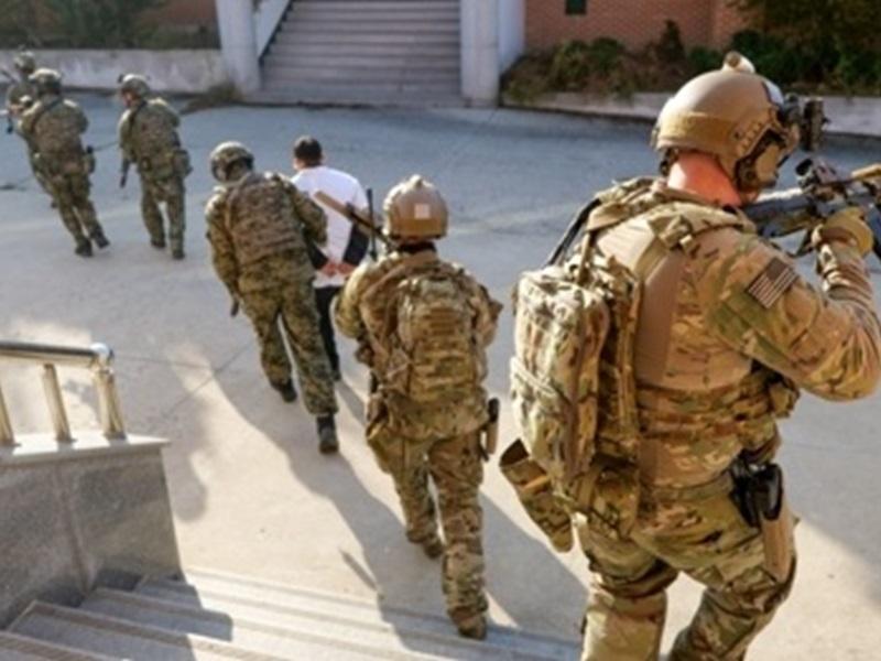 美韩特种部队生擒首长。网图