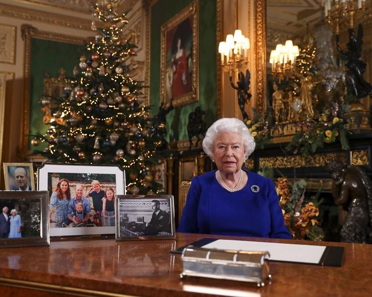 英女皇伊利沙伯二世發表聖誕文告。AP