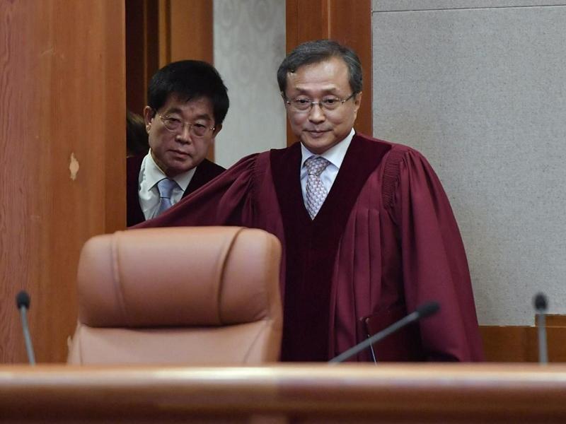 韩法院裁定韩日慰安妇协议不属违宪审查範围。Twitter图