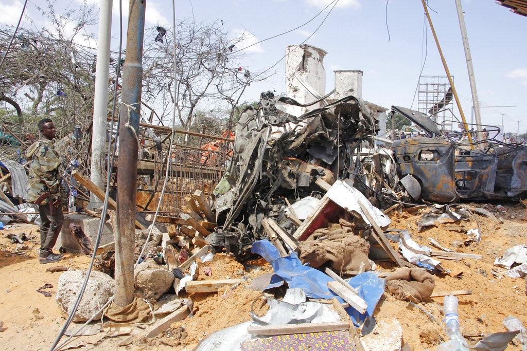 索马里首都发生汽车炸弹袭击。