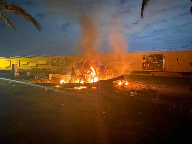 伊朗巴格达机场,3日凌晨遭到美军无人机袭击。