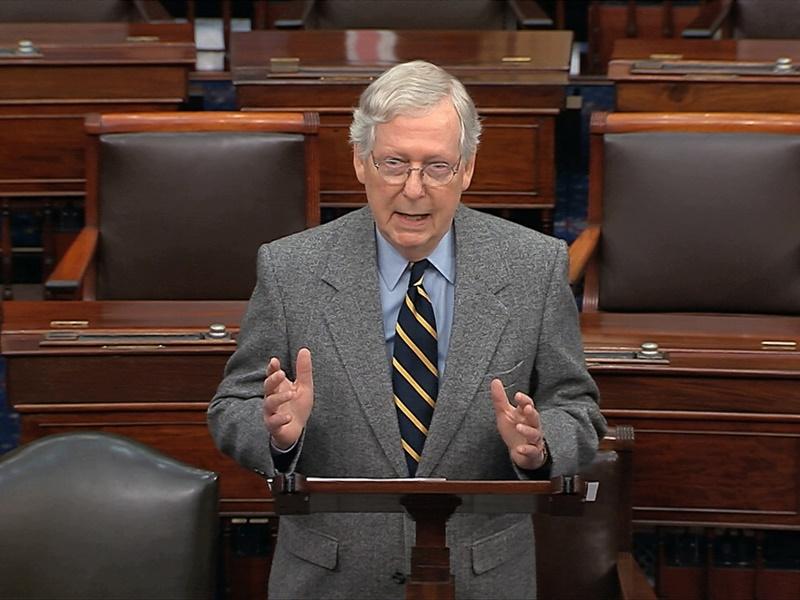 麦康奈尔指仍未收到众议院提交上来的弹劾议案文件。