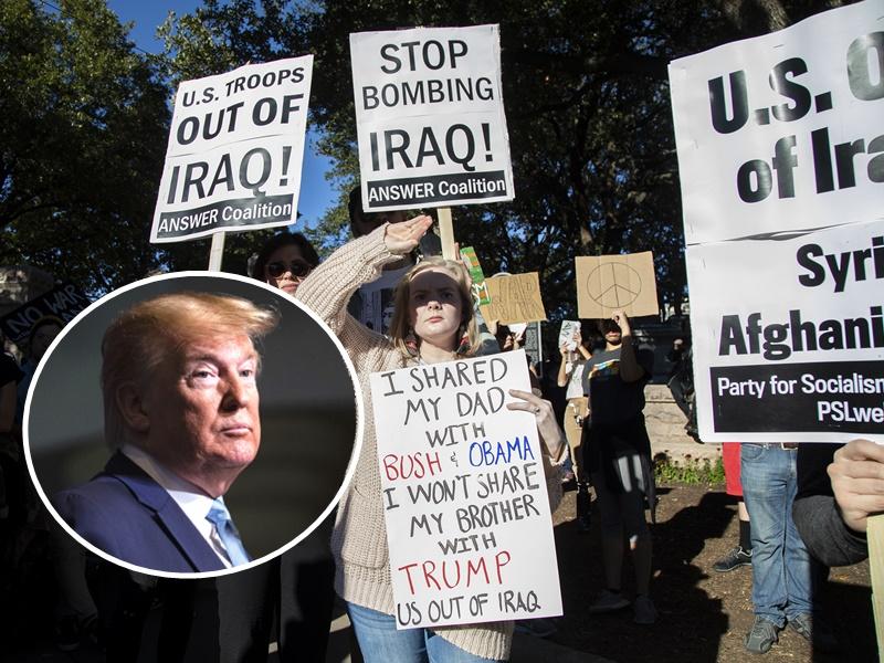 民众上街高呼反美及反以色列的口号。