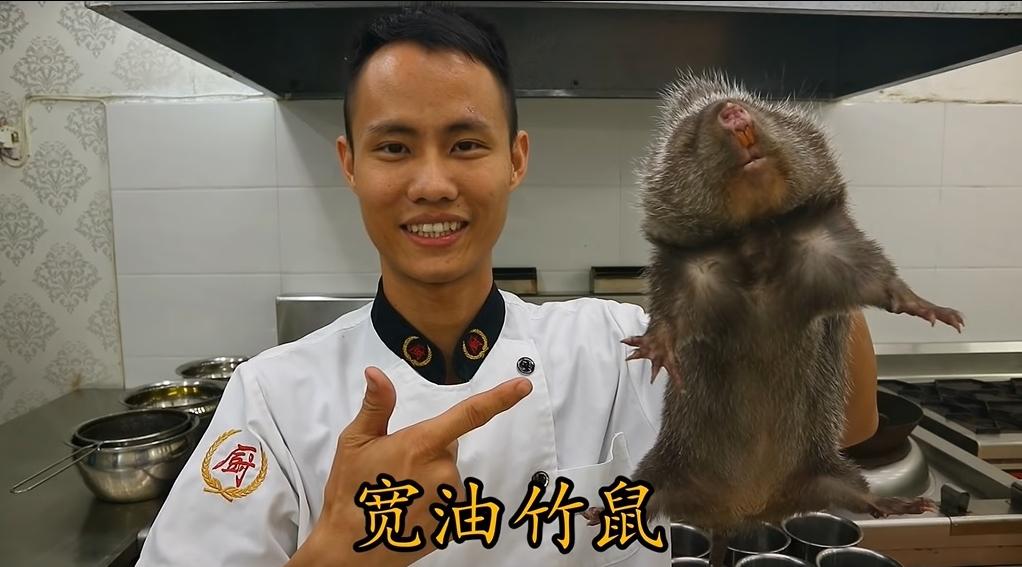 網上有人拍片教授如何烹煮竹鼠的短片。網上圖片