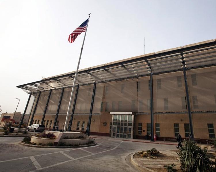 美国驻伊拉克大使馆遭至少3枚火箭袭击。资料图片