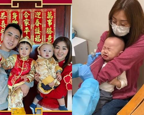 細仔持續發燒確診甲型流感 張名雅心疼:可憐的孩子