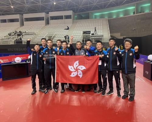 香港乒乓球隊七張入場券闖東京奧運