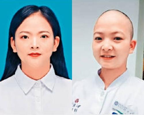 【武漢肺炎】女護士剃光頭上「戰場」
