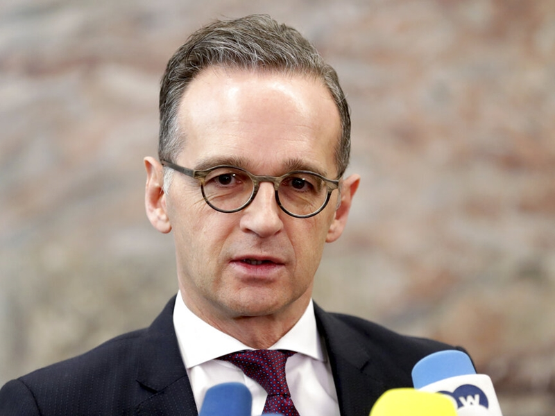 德国外交大臣海科·马斯(Heiko Maas)今天发表德国对新冠状病毒声明。图