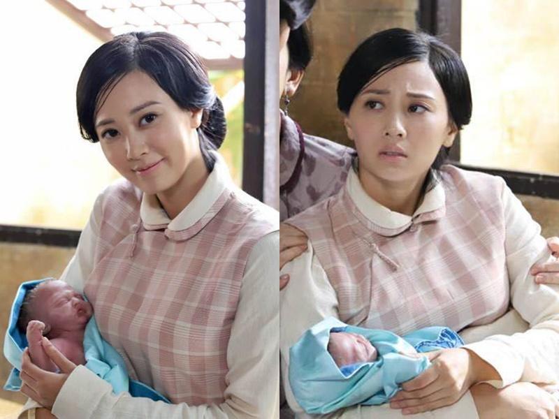 朱晨麗抱住道具B都母愛大發。