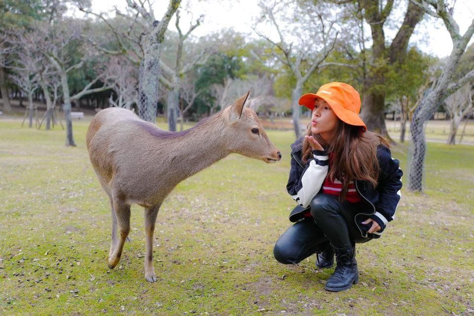 開心放假 傅嘉莉啱啱完成日本之旅,神采飛揚。