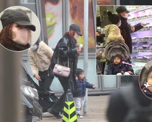 【頭條獨家】母子逛超市 新手媽勁大意 李蕙敏冇幫囝囝戴口罩