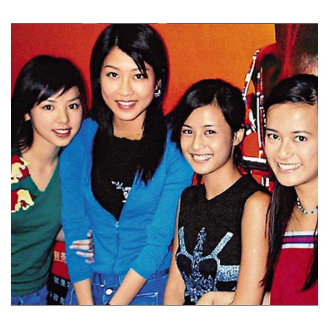 (左起)譚凱琪和陳敏之於2000年一同簽約小室哲哉公司ROJAM。