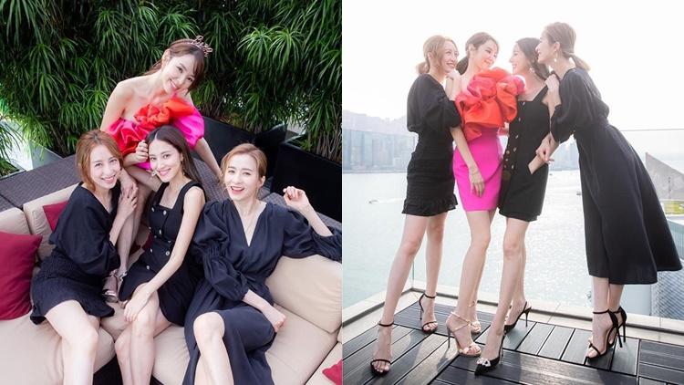 譚凱琪昨日宣佈正式升呢「莊太」,一班好姊妹今日齊齊晒靚相。