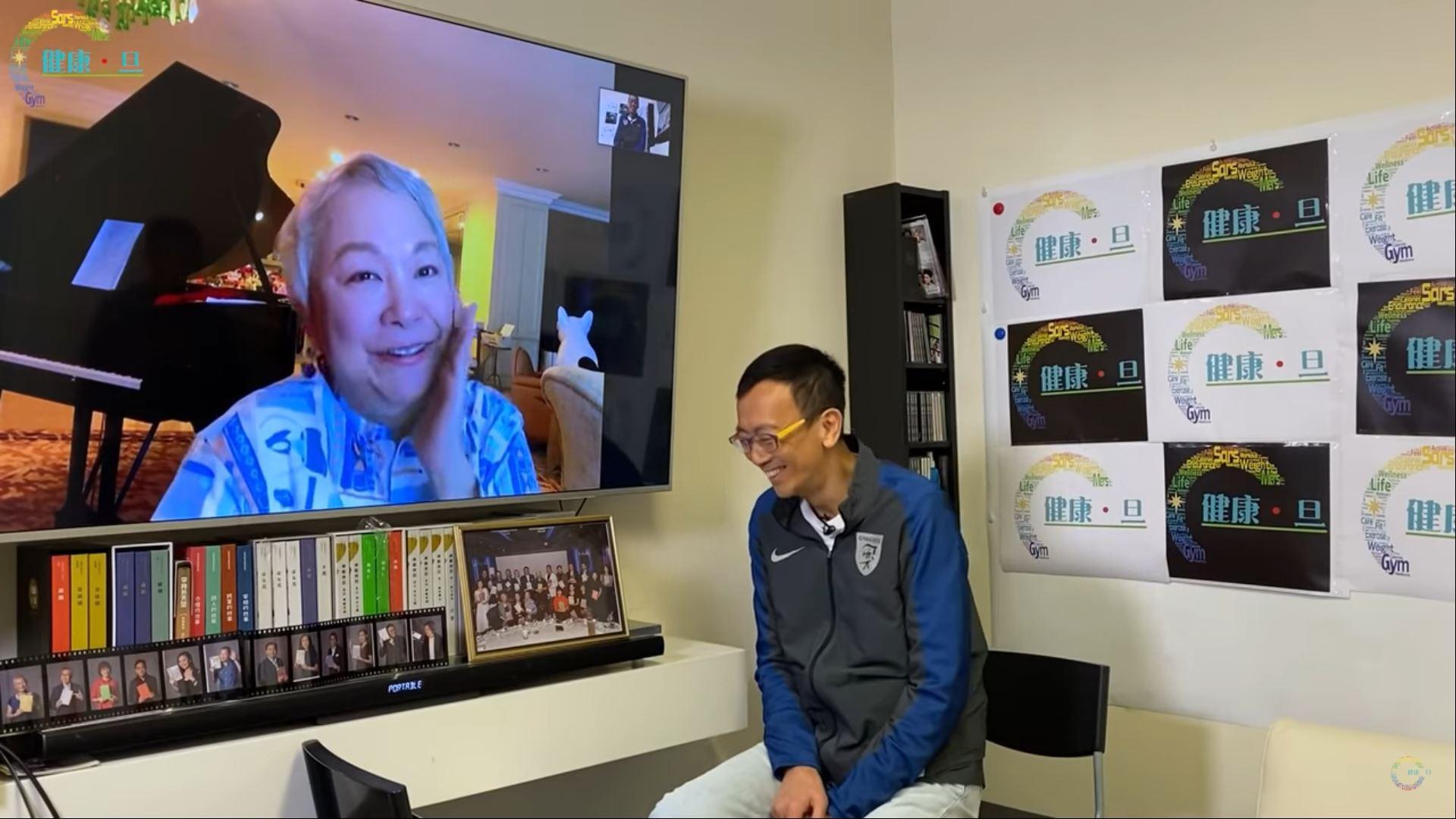 陳秋霞接受「健康·旦」視像訪問,暢談她於馬來西亞的抗疫生活。