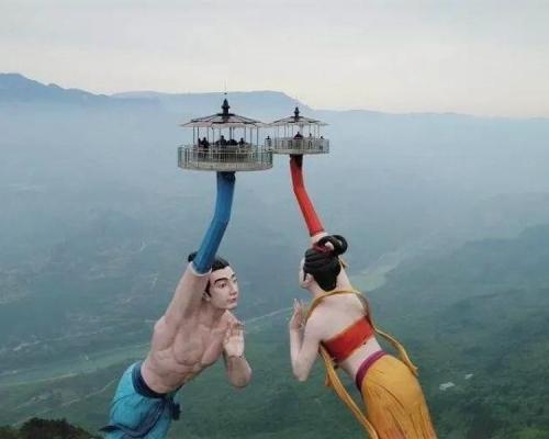 重慶「飛天之吻」雕像遭網民嫌太醜 設計師稱與原稿不一致