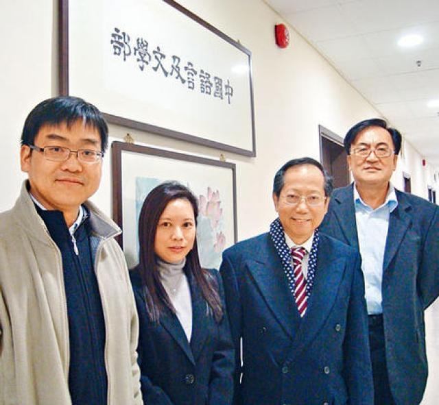 港大教育學院助理教授羅嘉怡(左二)指,將指導教師分層次設計教材,改善非華語生的學習差異。