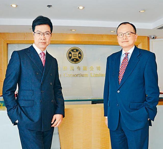 遠東發展執行董事陳志興(左)指,將繼續投地增發展儲備。旁為高級營業及市務總監方俊。