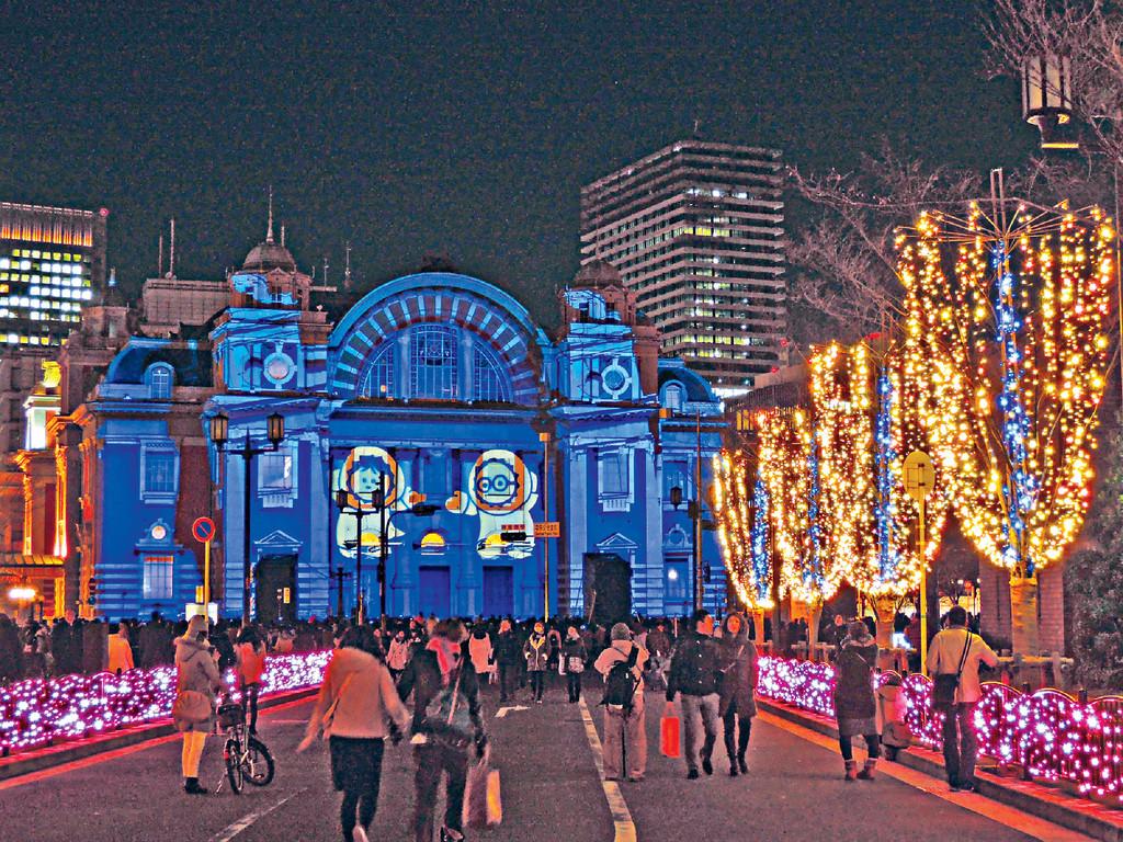 大阪中之岛 圣诞灯饰璀璨