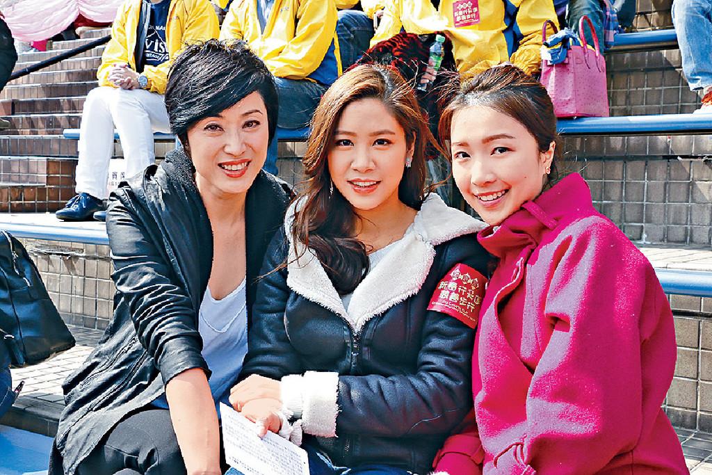(左起)港姐出身的陈法蓉,林凯恩和郭嘉文一同出席慈善活动.图片