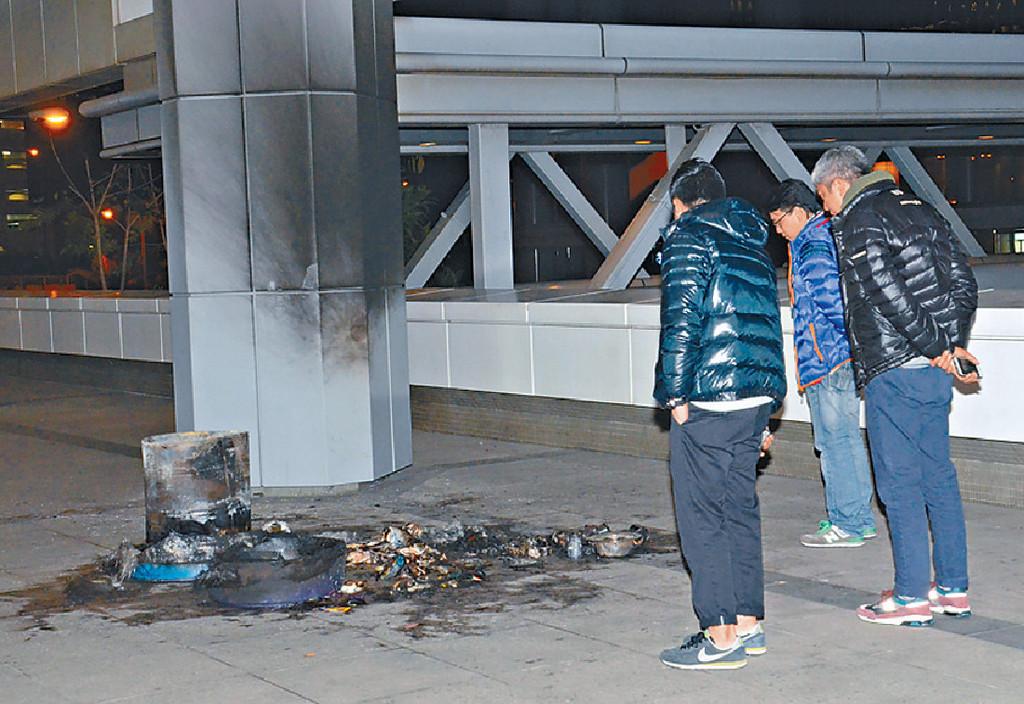 13高院垃圾桶纵火案拘一男