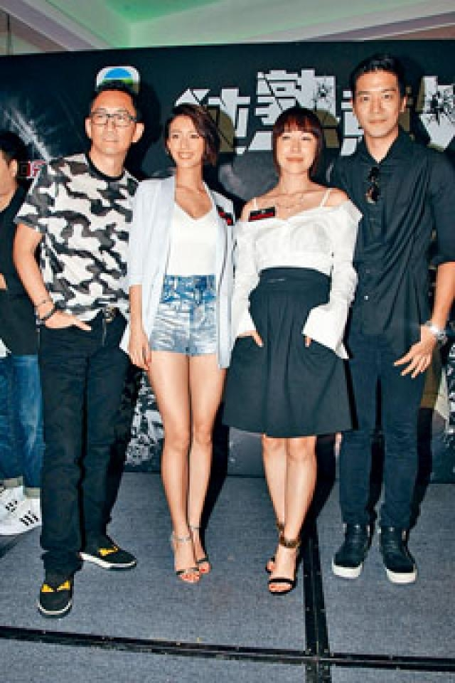 (左起)吳啟華、蔡思貝、李施嬅與黎諾懿,力谷提早推出的新劇。