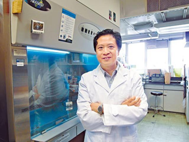 浸大生物系教授翁建霖的「個人化幹細胞療法」研究,長遠有望應用於神經退化性疾病患者。