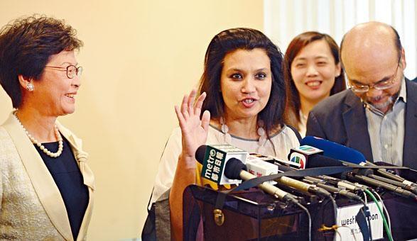 西九文化區管理局公布委任華安雅 Suhanya Raffel (右)為M+博物館行政總監,將於十一月一日正式履新。