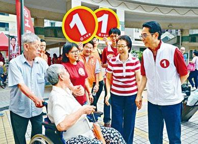 黃國健得黨內「重量級」人馬陳婉嫻現身撐場。
