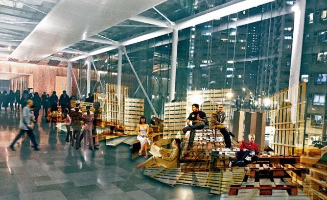《築.自室貳之家-城÷》展品之一——《重塑小城空間定義‧發掘大小生活故事》設計圖。