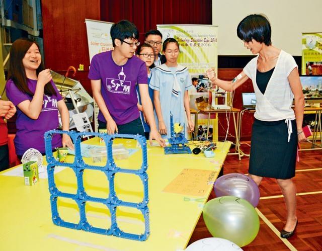 不少中學都有舉辦推動STEM教育的活動,盼培養學生科研興趣。