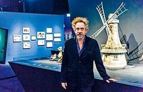 荷里活著名導演添布頓早前來港,出席「添布頓異想世界」巡迴展——香港站的開幕儀式。