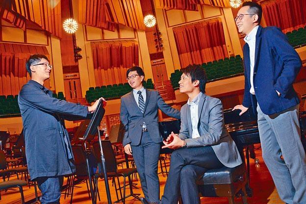 四位年輕作曲家(左起)馮迪倫、陳啟揚、梁智軒和葉浩堃,將為樂迷帶來新作。