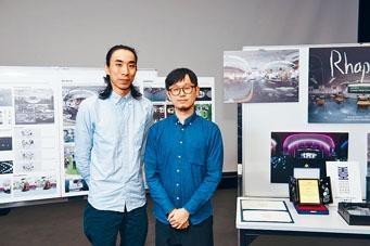 知專電影及電視高級文憑應屆畢業生陳明俊(左)現為電腦特技師,盼日後成為電影導演。