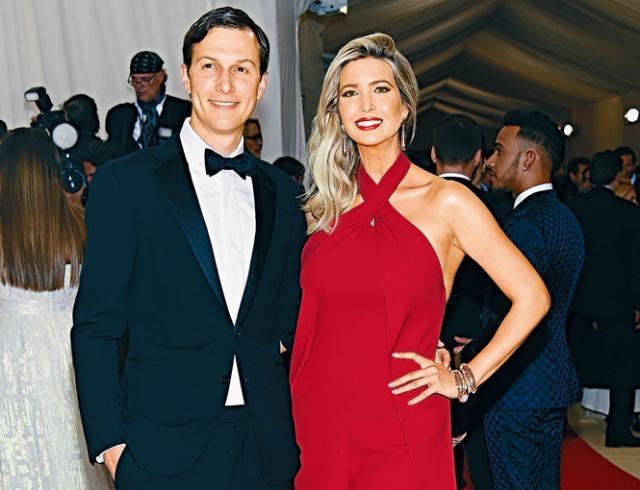 庫什納與妻子伊萬卡去年在紐約出席活動。