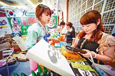 南韓化妝品深受中國消費者歡迎。
