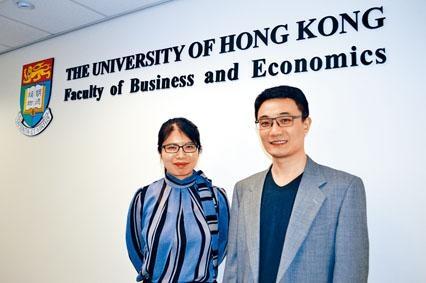 商學院創新及資訊管理學教授沈海鵬(右)表示,商業分析應用廣泛,開辦課程是切合社會需求。