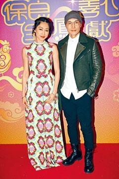 陳展鵬與胡定欣齊齊錄影賀年節目。