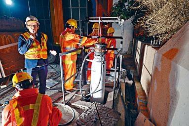 新技術可在毋須開坑及截流情況下,修復渠道。